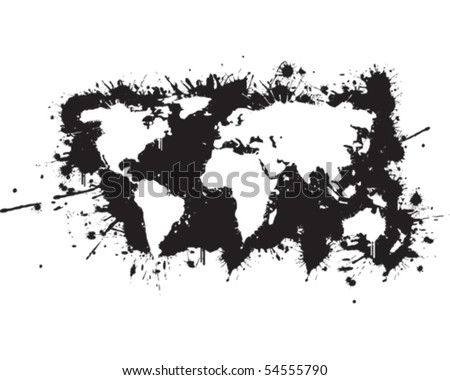 World map graffiti reverse stock vector royalty free 54555790 world map graffiti reverse gumiabroncs Gallery