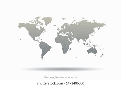 world map. graphic vector of countries world map