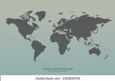 world map. graphic vector of world countries map