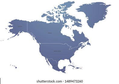 world map. graphic vector of north america map