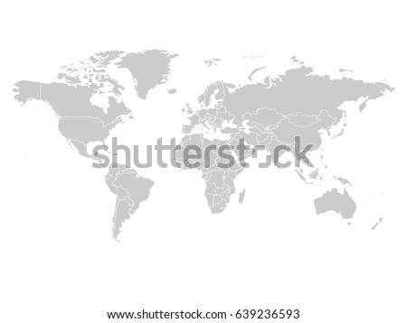 World Map Grey Color On White Stock Vector (Royalty Free) 639236593 ...