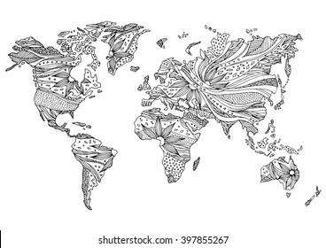 Imágenes, fotos de stock y vectores sobre Map Coloring Page ...
