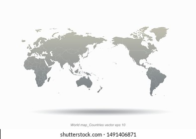 world map. high quality graphic vector of countries world map