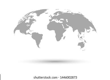 World map icon. Vector illustration.