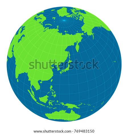 World Map Illustration Globe Sphere Focus Stock Vector Royalty Free