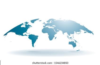 World map illustration isolated on white background