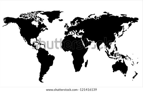 World Map Illustration. Vector illustration flat design.