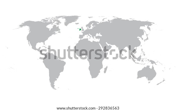 World Map Indication Ireland Stock Vector (Royalty Free ...