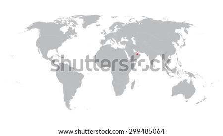 World Map Indication United Arab Emirates Stock Vector (Royalty Free ...