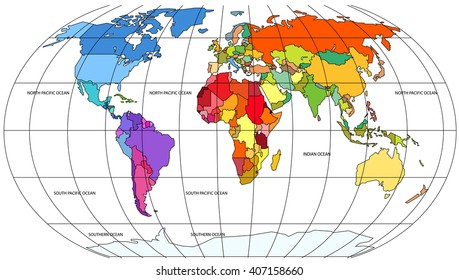 Equator Map Images, Stock Photos & Vectors | Shutterstock