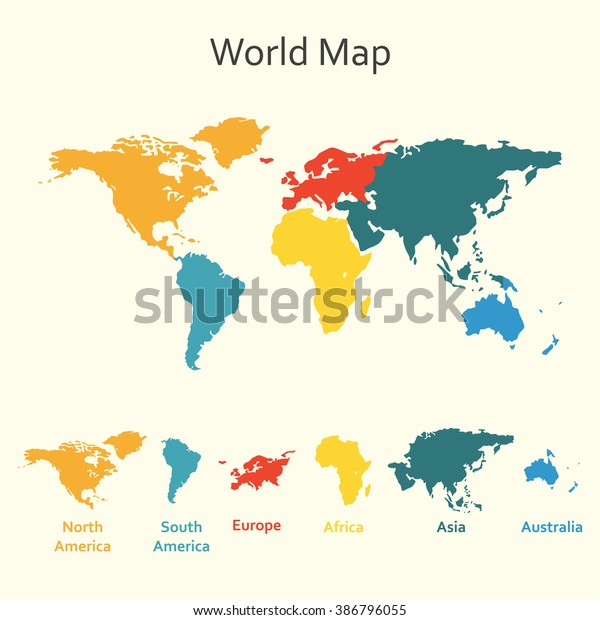 World Map Infographics Vector Design Template Stock Vector ...