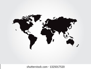 World map isolated on white background, Earth Map vector illustration