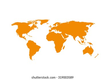 Vector world map global earth icon vector de stock547158154 world map isolated on white background gumiabroncs Image collections
