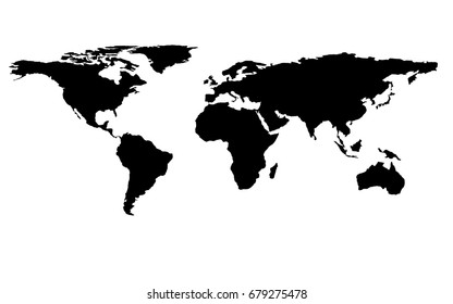 World map vector isolated on white stock vector 408243649 shutterstock world map isolated on white background vector template design for info graphics flat earth gumiabroncs Image collections