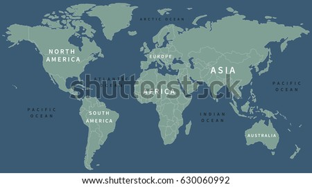 A Map Of The World With Labels.World Map Label Teriz Yasamayolver Com