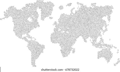 Continent line political world map vector de stock392763817 world map letters vector background gumiabroncs Images
