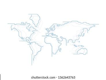 Vektor-Vektorgrafik der World Map Lines-Verbindung