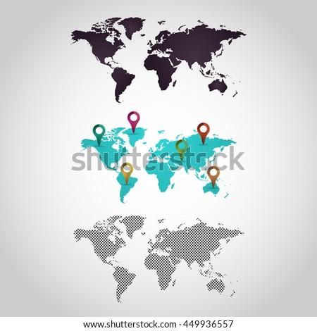 World map logo design icon vector stock vector royalty free world map logo design icon vector set gumiabroncs Gallery