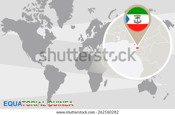 World Map Magnified Equatorial Guinea Equatorial Stock ... on equatorial guinea africa, ghana world map, cape verde world map, equatorial guinea on map south america, malabo map, equator location on map, heremakono on the location of guinea africa map, tunisia world map,