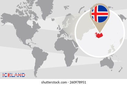 Royalty Free Stock Illustration of Abstract Waving Iceland Flag Over ...