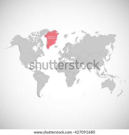 World map mark country greenland vector stock vector royalty free world map with the mark of the country greenland vector illustration gumiabroncs Gallery