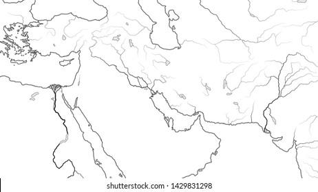 Map Of Asia Euphrates River.Euphrates River Stock Vectors Images Vector Art Shutterstock