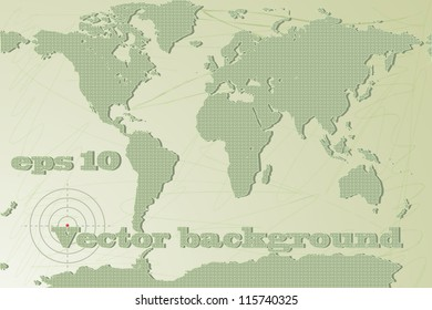 The world map in military style. Vector background. eps 10