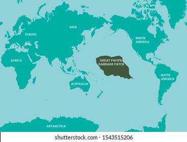 World Map on green background with Antarctica. Geographical map with the name of the continents. Post apocalypse