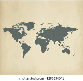 World map on a vintage background