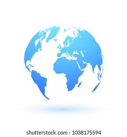 World map on white background. Vector illustration.