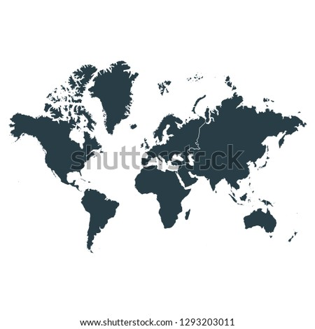 World Map On White Background Vector Stock Vector Royalty Free