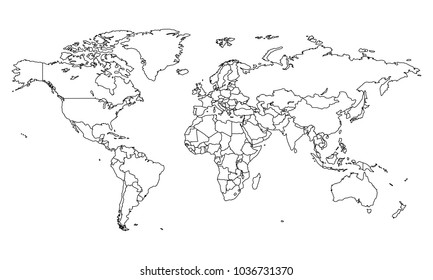 World map sketch imgenes fotos y vectores de stock shutterstock world map world map outline best popular world map outline graphic sketch style gumiabroncs Gallery