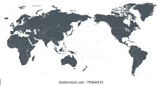America centered world map images stock photos vectors shutterstock world map outline contour silhouette asia in center vector gumiabroncs Image collections