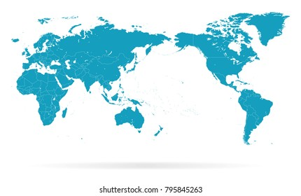 World map india stock illustrations images vectors shutterstock world map outline contour silhouette asia in center vector gumiabroncs Gallery