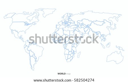 world map outline country graphic vector stock vector royalty free