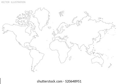 World map outline graphic freehand drawing stock vector 722845321 world map outline gray world map vector illustration gumiabroncs