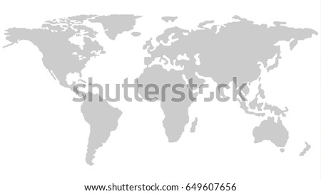 world map outline isolated on white stock vector royalty free