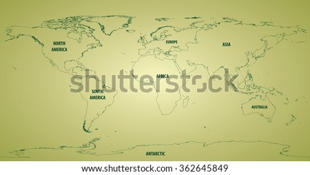 world map outline continents
