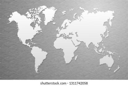 world map, paper art vector