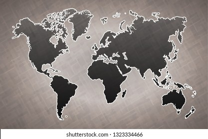world map, with paper art vector