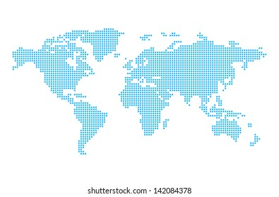 Pixel world images stock photos vectors shutterstock world map in pixels gumiabroncs Images