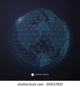 World map point, line, composition, representing the globe, Global network connection,international meaning.