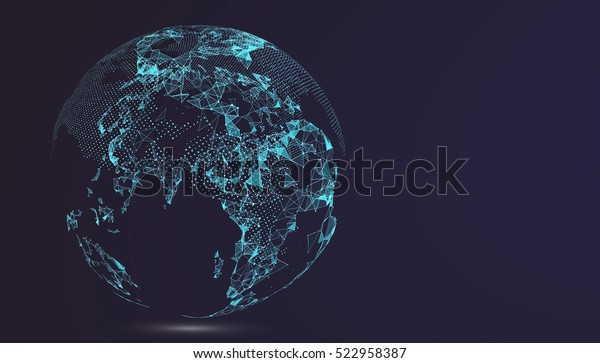 World map point, line, composition, representing the global, Global network connection,international meaning.