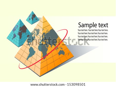 World Map Pyramid Shape Vector Stock Vector Royalty Free 153098501