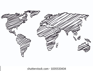 World Map Sketch Images Stock Photos Vectors Shutterstock