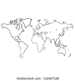 World map drawing images stock photos vectors shutterstock world map sketch vector gumiabroncs Gallery