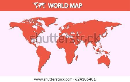 World Map Small Dot Vector Illustration Stock Vector (Royalty Free