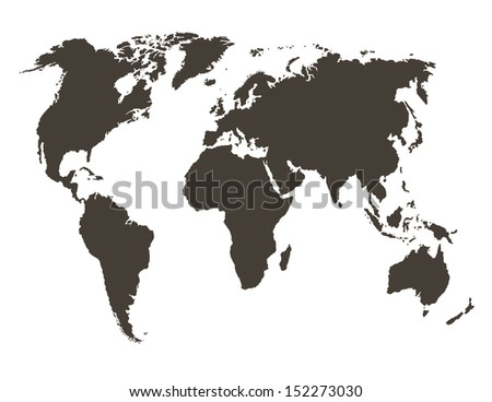 World Map Map Source Public Domain Stock Vector Royalty Free