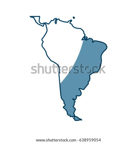 Map Of Sourth America World Map Sourth America Continent Country Stock Vector (Royalty