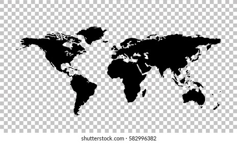 World map - stock vector.
